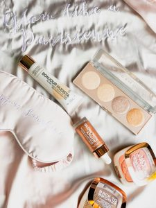 let's glow imparfaites glow kit l'oreal peach embellishing blush nudista liquid highligher
