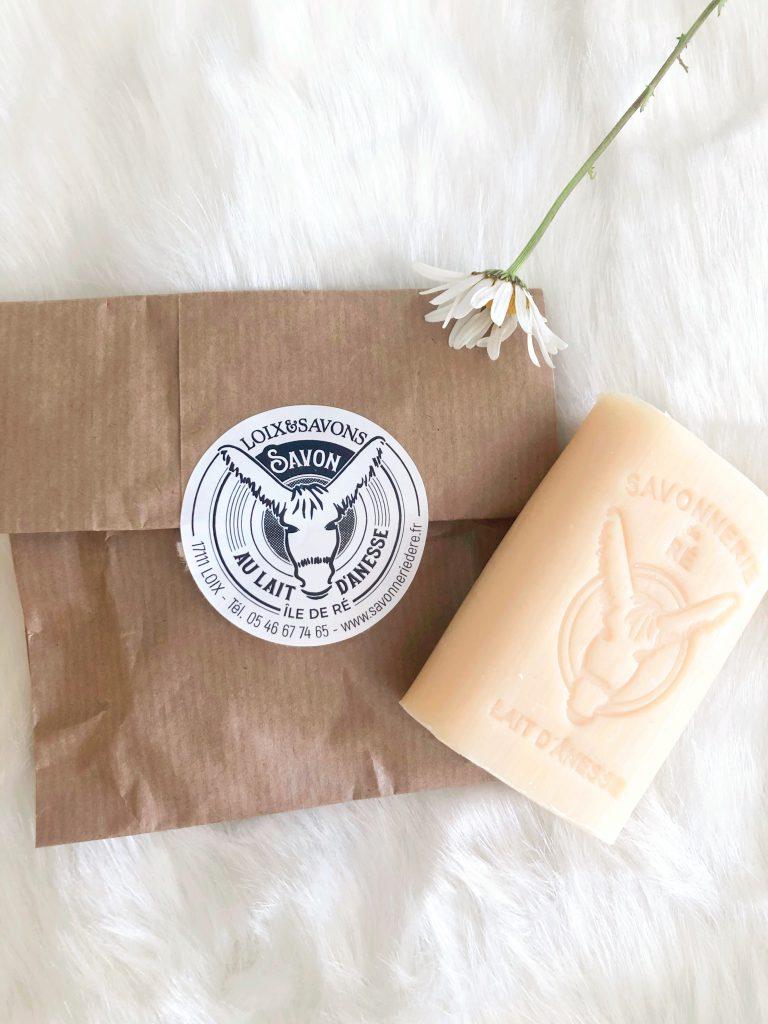 Le savon d'ânesse bio de la marque cosméto.ré de la Savonnerie de l'île de Ré