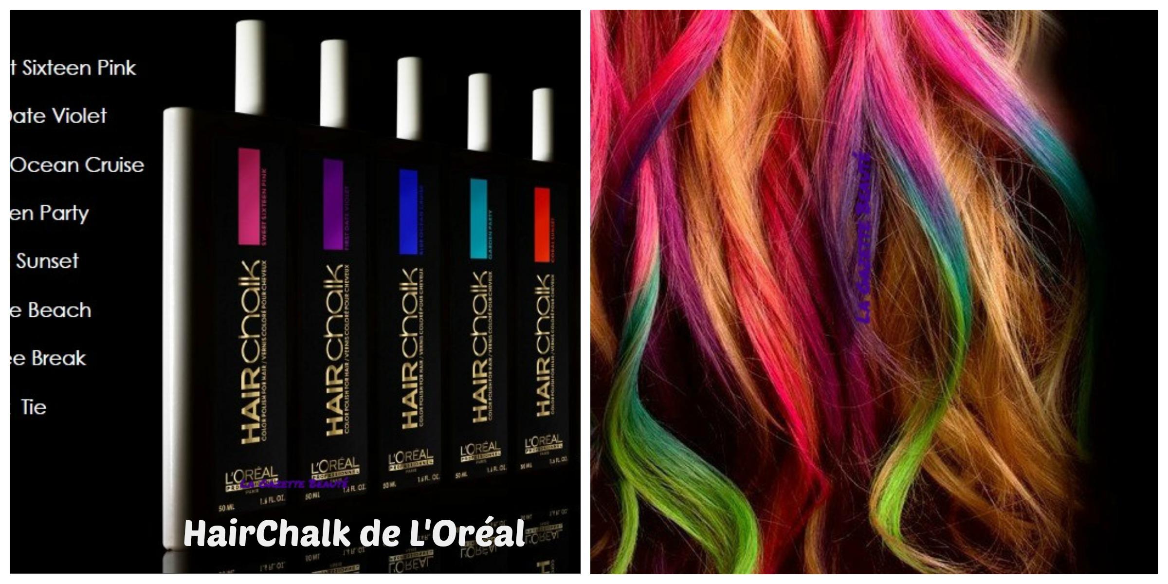la coloration éphémère à la craie : le hair chalk
